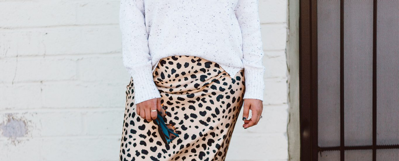 How to style a Leopard Skirt for Fall